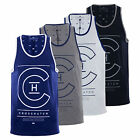 Mens Vest T-Shirt Crosshatch Alfa Summer Muscle Back Tank Top