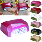 36W LED CCFL Nail Dryer Diamond Curing Lamp Machine For UV Gel Nail Polish EU LJ