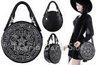 Restyle Sigillum Dei Heptagram Symbols Occult Nu Goth Round Shoulder Bag Handbag