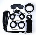 Unisex - Adult SM BASM Flirt Ankle Handcuffs Collar 7PCS Restraint Leather Whip Sex Toys