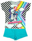 Girls My Little Pony Awesome Rainbow Dash MLP Shorty Pyjamas 3 to 10 Years