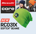 Result NEW Mens/Womens Winter Essentials Core Softex® Double Knit Beanie 24 cols