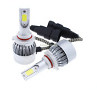 A Pair COB 72W LED Headlight Kit Bulbs Lamp White 9005 880 H13 H4 H11 High Power