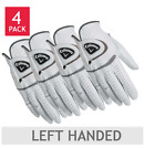 New Callaway Mens Golf Leather Gloves,  Left Handed,  4 pack,  High Quality Gift