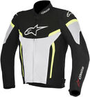Alpinestars Mens Black/White/Yellow Fluo T-GP Plus R v2 Air Motorcycle Jacket