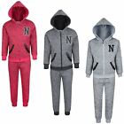 Kids 2 Piece Tracksuit Boys Girls Faux Leather Applications Tracksuit 3-14 Y