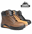 MENS GROUNDWORK STEEL TOE CAP SAFETY BOOTS WORK LACE UP ANKLE BOOTS SHOES HIKERS
