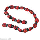 Wholesale Lots HX Ladybug Lampwork Glass Spacer Beads Red 15x10mm