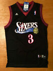 NWT Throwback Swingman Jersey ALLEN IVERSON 3 Philadelphia 76ers Black Men