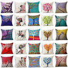 Colorful Trees Linen Pillow Case Throw Pillow Cover Cushion Cover Home Decor