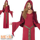 High Priestess Ladies Fancy Dress Medieval Sorceress Pagan Witch Costume Outfit