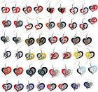 MLB Licensed PICK YOUR TEAM Swirl Heart Dangle Glitter Earrings