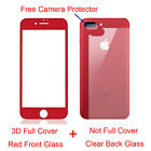 3D Full Cover Curved Front Back Tempered Glass Screen Protector Fr iPhone 7 Plus