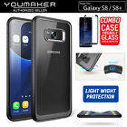 YOUMAKER® Samsung Galaxy S8 S9 S9 Plus Shockproof Slim Bumper Crystal Case Cover