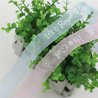 2 Meter It's a Boy Girl Ribbon Blue Pink Baby Shower Cake Wrap Crafts