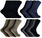 6 Pairs Mens Thick Heavy Chunky Knitted Wool Blend Thermal Hiking Boot Socks