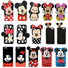 iphone 4 silicone case - 3D Cartoon Minnie Mickey Soft Silicone Phone Case Cover For iPhone 5 6 7 8 Plus