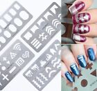 Nail Art Stamping Plate Hollow Star Cross Image Templates Manicure Born Pretty