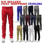 MEN Jeans STRETCH FIT SKINNY FIT Trousers Casual Pants SKINNY AKADEMIKS STYLE 13