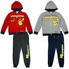 Boys Official Pokemon Pika Zipper Hoody Jog Suit Tracksuit Set 4 to 12 Years