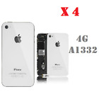 Lot of 4 New Replacement Rear Glass Battery Cover Back Door For iPhone 4GSM