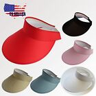 Clip On Visor Women Ladies Sun Hat Brim Sports Cap Colors Golf Tennis Beach New