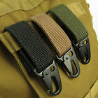 Nylon Military Tactical Hanging Belt Carabiner Key Molle Buckle Hook Strap Clip