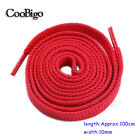 100cm Length Plain Flat Shoelace Red for Causal Sneakers Boots Shoes
