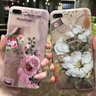 3D Stamp Flower Case For iPhone X 6 6s 7 Plus Case Silicon Cover Soft Thin Case  iphone x cases 3d 1123648088374040 4