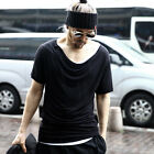 ByTheR Solid White Classy Urban Casual Shirring Loose Neck Short Sleeve T-shirts
