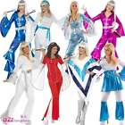 Womens 1970s 70s Super Trooper Disco Lady Abba Waterloo Fancy Dress Costume New