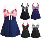 Plus Size Ladies One Piece Swimsuit Skirted Swimwear Swim dress Bathing Suit