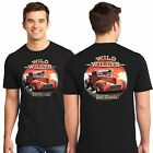 1941 Willys Pickup Nostalgia Drag Racing Hot Rod T Shirt Design on Front & Back