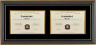 Double Diploma Glossy Black Laquer Wood Frame mixed size C75