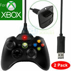 2X 1X USB Charging Cable Charger For MicroSoft Xbox 360 Wireless Game Controller