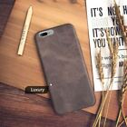 Genuine Original PU Leather Thin Slim Case Cover Apple iPhone 10 X 8 7 Plus 6s 5 <br/> iPhone 5 5s Se | FREE Screen Shield | Express Delivery