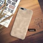 Genuine Original PU Leather Thin Slim Case Cover Apple iPhone 10 X 8 7 Plus 6s 5