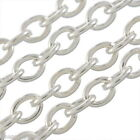 Wholesale Lots HX Silver Plated Links-Opened Cable Chains 2x3mm