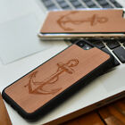 Anchor Carved Natural Wood Phone Case for iPhone7/7plus/6/6s/6plus/6sp