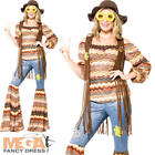 Harmony Hippie Ladies Fancy Dress 60s 1970s Hippy Womens Adults Costume Outfit