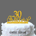 30th Fabulous Acrylic Cake Topper, Birthday Party Decoration, Anniversary Gift