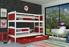 Bunk Bed Kids Children Solid Wooden Storage Drawer Free Mattresses