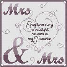 "Every Love Story (Mrs & Mrs) Cross Stitch Design (8x8"", 20x20cm, kit or chart)"