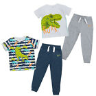 Boys T Shirt Top Jogger Bottoms 2 Piece Set Dinosaur Dino Cotton Gift Set 2-8Yrs