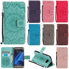 Flip Embossed Patterned Pu Leather Card Pocket Stand Case Cover Protection Kt