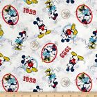 LICENSED VINTAGE MICKEY MINNIE MOUSE DISNEY KIDS CRAFT QUILT FABRIC Free Oz Post
