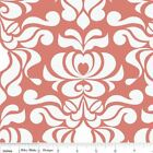 VALENCIA  DAMASK FLORAL CORAL RILEY BLAKE QUILT SEWING FABRIC Free Oz Post