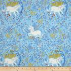 FAR FAR AWAY UNICORNS BLUE HEATHER ROSS KIDS QUILT SEWING FABRIC Free Oz Post