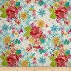 MARIPOSA FLOWERS FLORAL QUILT SEWING FABRIC Free Oz Post