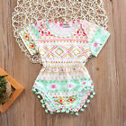 Floral Infant Summer Baby Girl Floral Romper Bodysuit Jumpsuit Outfits Sunsuit